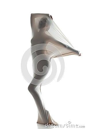 Free Concept Of Struggle. Faceless Female Silhouette Stock Photo - 39637560