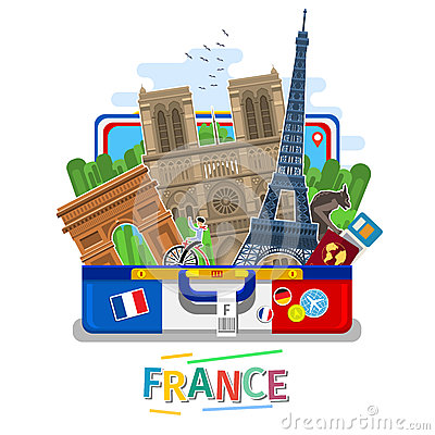 Free Concept Of Travel Or Studying French. Stock Image - 86015661