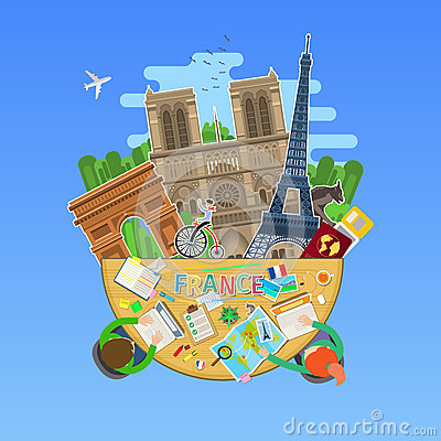 Free Concept Of Travel Or Studying French. Stock Image - 86645531