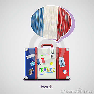 Free Concept Of Travel Or Studying French. Royalty Free Stock Photo - 90216035