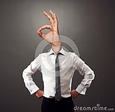 Concept photo of successful businessman