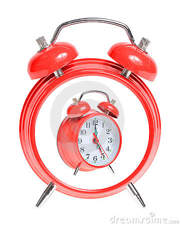 Concept red alarm clock