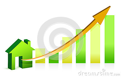 Concept rising property value