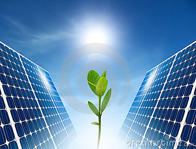 Concept Of Solar Panel Green Energy Stock Images Image