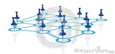 Concept of teamwork and communication (3d render)