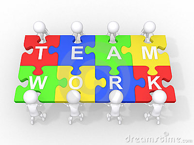 Concept of teamwork, leadership, cooperation