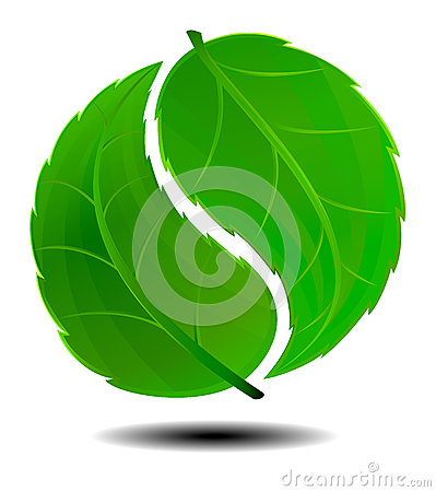 Symbole vert de Yin Yang