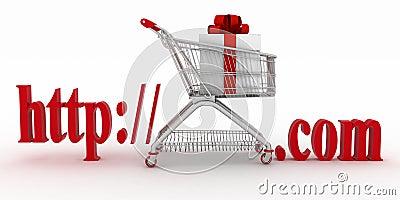 Concept of visiting e-business website