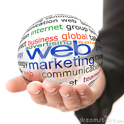 Concept of web marketing in business