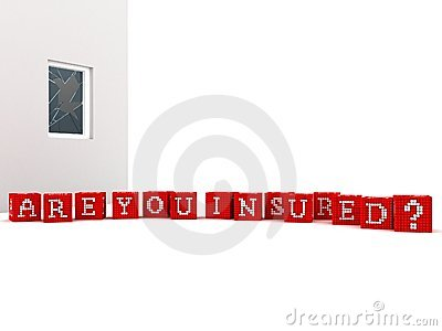 Concept Are you Insured on white background