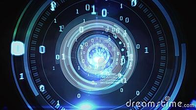 Conception de code de technologie dans l'oeil humain clips vidéos