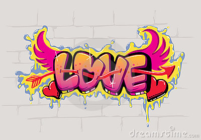 Conception De Graffiti D 39 Amour Images Stock Image 23020454