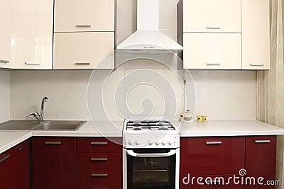 Conception intérieure de cuisine domestique