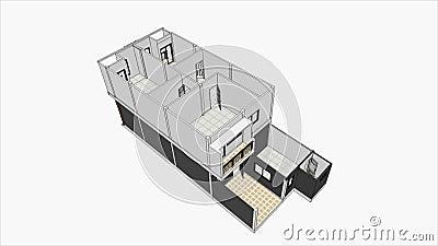 Conception la maison moderne clips vid os vid o 59178859 for Conception maison moderne