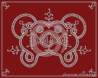 conception tribale motif folklorique peinture de mur illustration de vecteur image 43816533. Black Bedroom Furniture Sets. Home Design Ideas