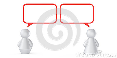 Concepto abstracto de la comunicación