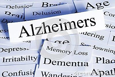 Concepto de Alzheimers horizontal