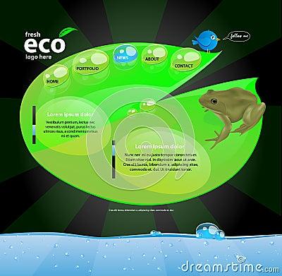 Concepto de diseño de Web de Eco