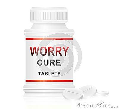 Concepto de la curación de la preocupación.
