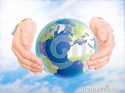 Concepto de la protección del medio ambiente.