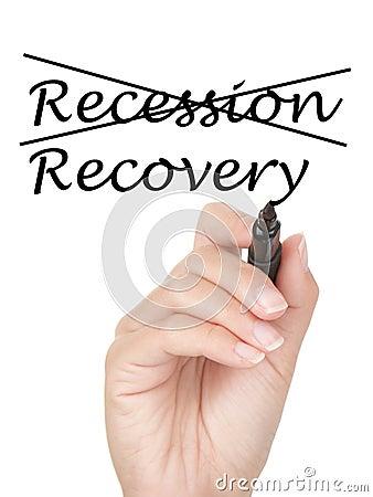 Concepto de la recesión y de la recuperación