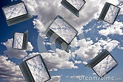 Concepto de la tecnología de ordenadores de la nube