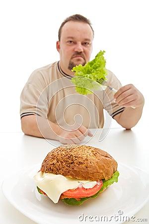 Concepto de las opciones de la dieta