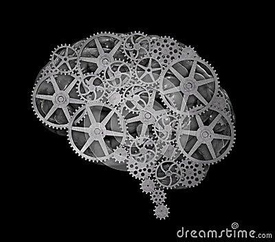 Concepto del cerebro humano