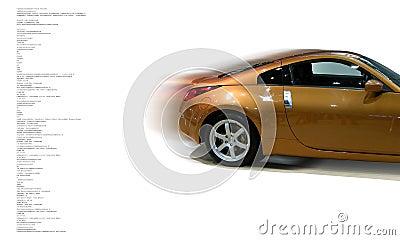 Concepto del coche rápido
