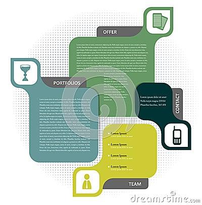 Concepto del fondo del vector para el folleto o el Web site