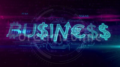 Concepto del holograma del negocio
