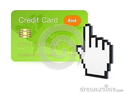 Concepto en línea del pago.