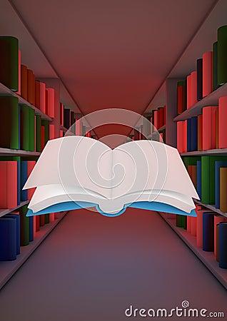 Concepto mágico de la biblioteca