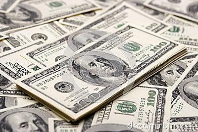 Conceptos de la prosperidad - cientos dólares