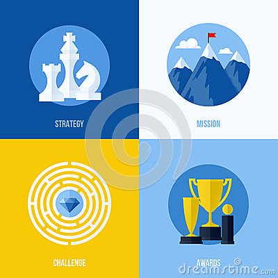 Concepts for strategy, mission, challenge, awards