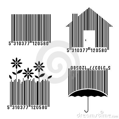 Free Conceptual Bar Codes Set Royalty Free Stock Images - 20346069