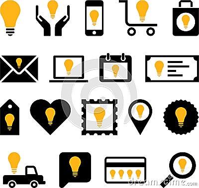 Conceptual Bulb icons