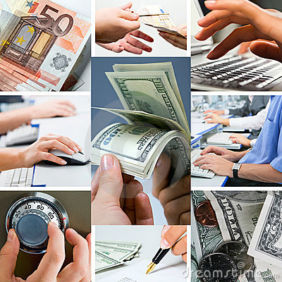 Free Conceptual Business Collage Royalty Free Stock Photos - 3471108
