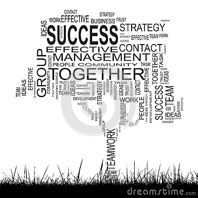 Free Conceptual Business Success Tree Word Cloud Royalty Free Stock Photography - 45514707