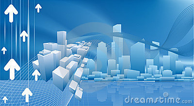 Conceptual city business background