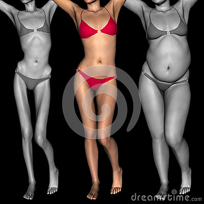 Conceptual 3d Woman As Fat Vs Fit Anorexic Stock Image Cartoondealer Com 63437245 How many fat women would date a fit guy? conceptual 3d woman as fat vs fit
