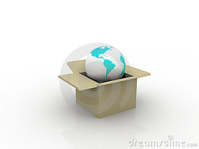 Conceptual Earth box in a box