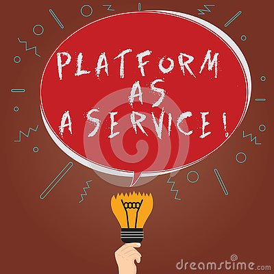 Conceptual hand writing showing Platform As A Service. Business photo showcasing Mobile online technologies assistance Stock Photo