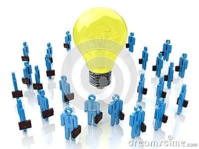 Conceptual idea. light bulb
