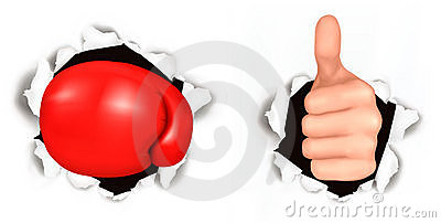 Conceptual illustration of thumb up.