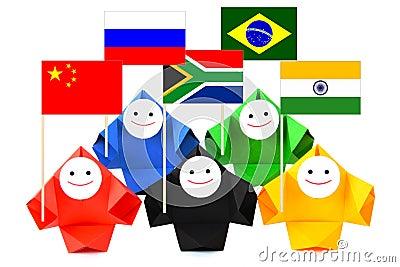 Conceptual image of BRICS