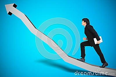 Conceptual image of business progress
