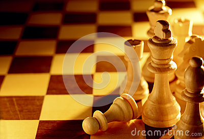 Conceptual image of chess pieces