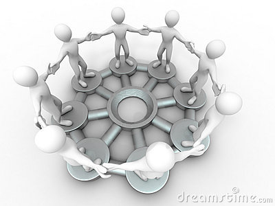 Conceptual image of communications or teamwork.