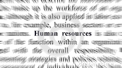 Conceptual image with focus on the human resources